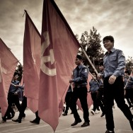 Proudly marching, Laos