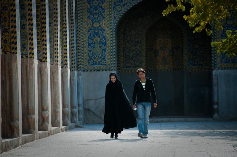 Iranian couple on a walk