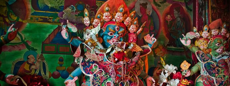 Tibetan Gods with Mao Zedong