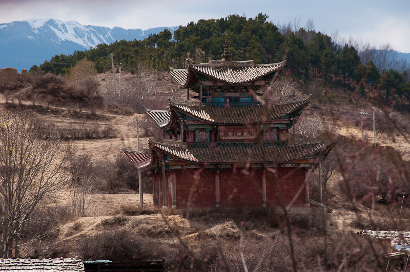 Abandon temple on the hill, Shangri-la