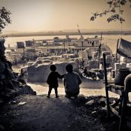 Together, sunrise in Mandalay