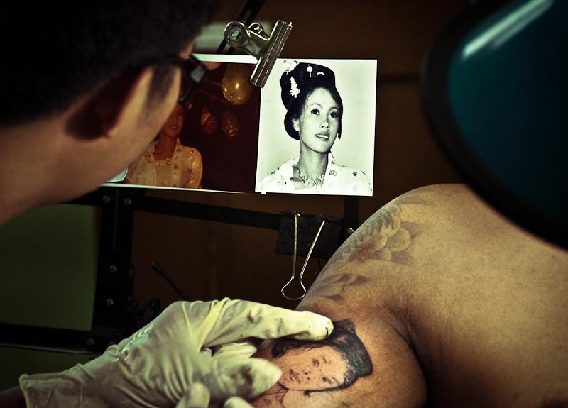 Mother tattoo Burma