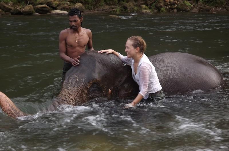 Kąpanie słonia