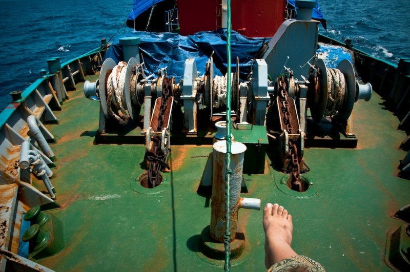 Stopem na statku cargo